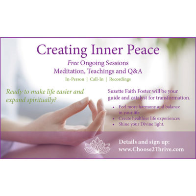 Free Meditation Program Suzette Foster
